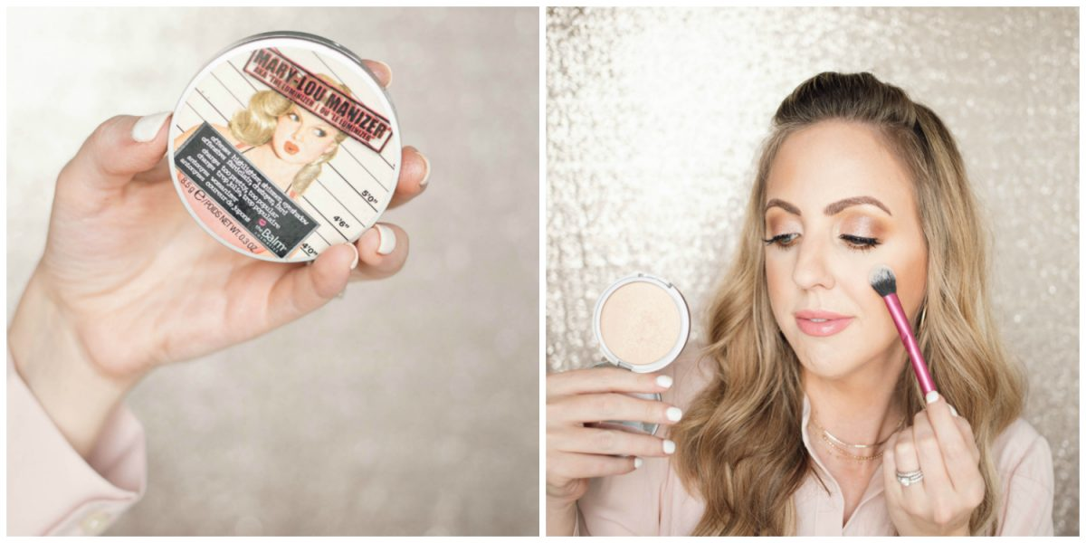 Houston beauty blogger Meg O. shares a spring makeup look - achieve dewy skin and glossy lips! theBalm Mary LouManizer Highlighter