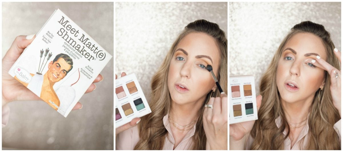 Houston beauty blogger Meg O. shares a spring makeup look - achieve dewy skin and glossy lips! Eyeshadow look with theBalm Meet Matt(e) Shmaker Eyeshadow Palette