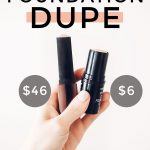 Houston beauty blogger Meg O. on the Go shares an Hourglass Vanish Stick Foundation dupe! Only . $6!