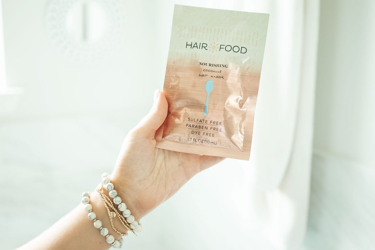 Houston beauty blogger Meg O. on the Go shares how to keep your hair healthy in summer - deep condition weekly. I love the Hair Food Nourishing Coconut Hair Mask