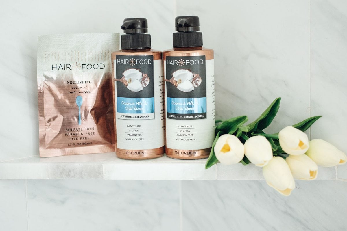 Houston beauty blogger Meg O. on the Go shares how to keep your hair healthy in summer - Hair Food Nourishing collection with Coconut and Chai Spice