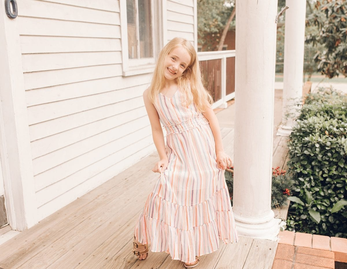 Houston mommy blogger Meg O. on the Go shares pretty dresses to wear this Mother's Day and all spring and summer - maxi dresses are wonderful for expecting mamas - perfect summer dress for 7 year old girl