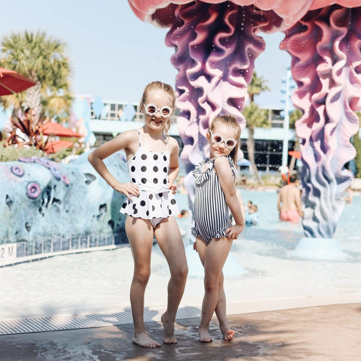 Houston lifestyle blogger Meg O. on the Go shares her favorite Disney World for kids experiences for preschoolers and up - Big Blue Pool at Art of Animation Resort