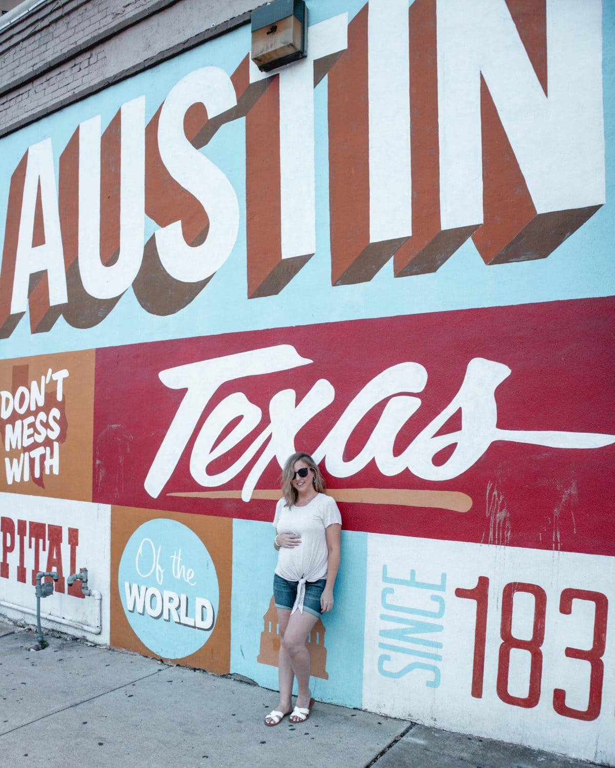 Houston lifestyle blogger Meg O. on the Go shares her couples' getaway to the Fairmont Austin TX - Austin Texas wall