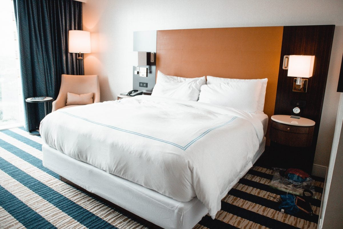 Houston lifestyle blogger Meg O. on the Go shares her couples' getaway to the Fairmont Hotel Austin TX - Deluxe Lakeview King accommodations