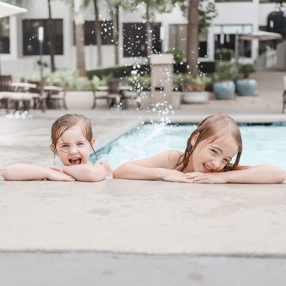 Houston blogger Meg O. on the Go shares her staycation at the Omni Houston Hotel - the pool at the Omni