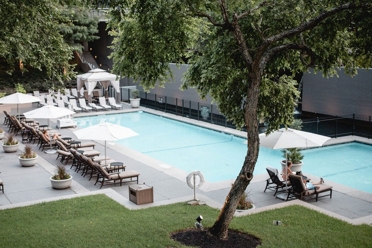 Houston blogger Meg O. on the Go shares her staycation at the Omni Houston Hotel - hotel pool