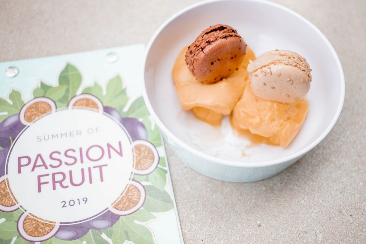 Houston blogger Meg O. on the Go shares her staycation at the Omni Houston Hotel - summer of passion fruit menu frozen macarons and sorbet