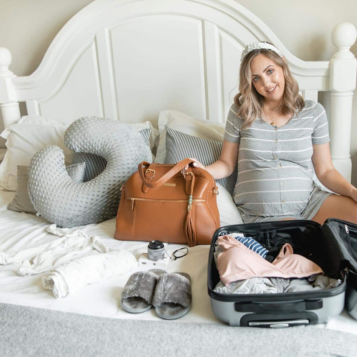 Hospital bag essentials from a third time mom - will help you pack for your delivery