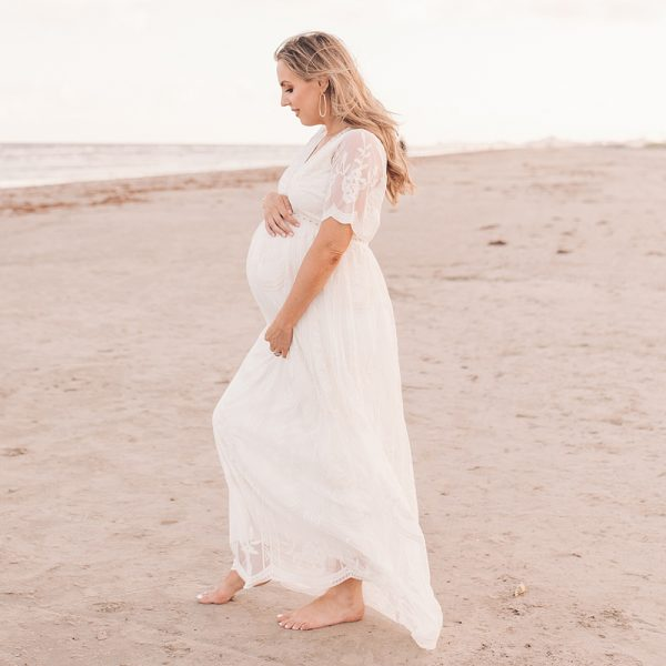 Beach Maternity Shoot