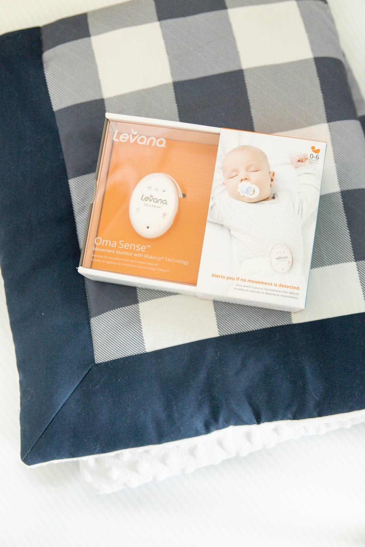 Houston mommy blogger Meg O. shares new and genius baby gear items - Levana Oma Sense Monitor