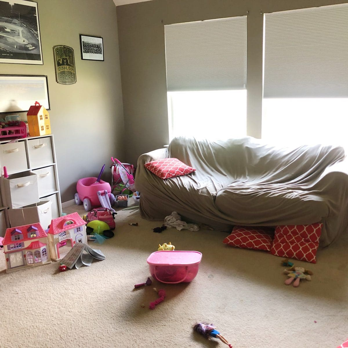 Houston blogger shares room makeovers - playroom makeover before