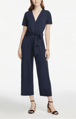 Navy Crop Jumpsuit
