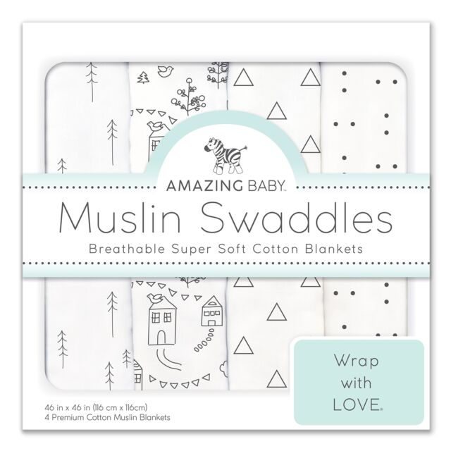 Amazing Baby Muslin Swaddle Blankets