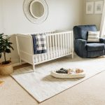 Logan's Simple White and Navy Boy Nursery