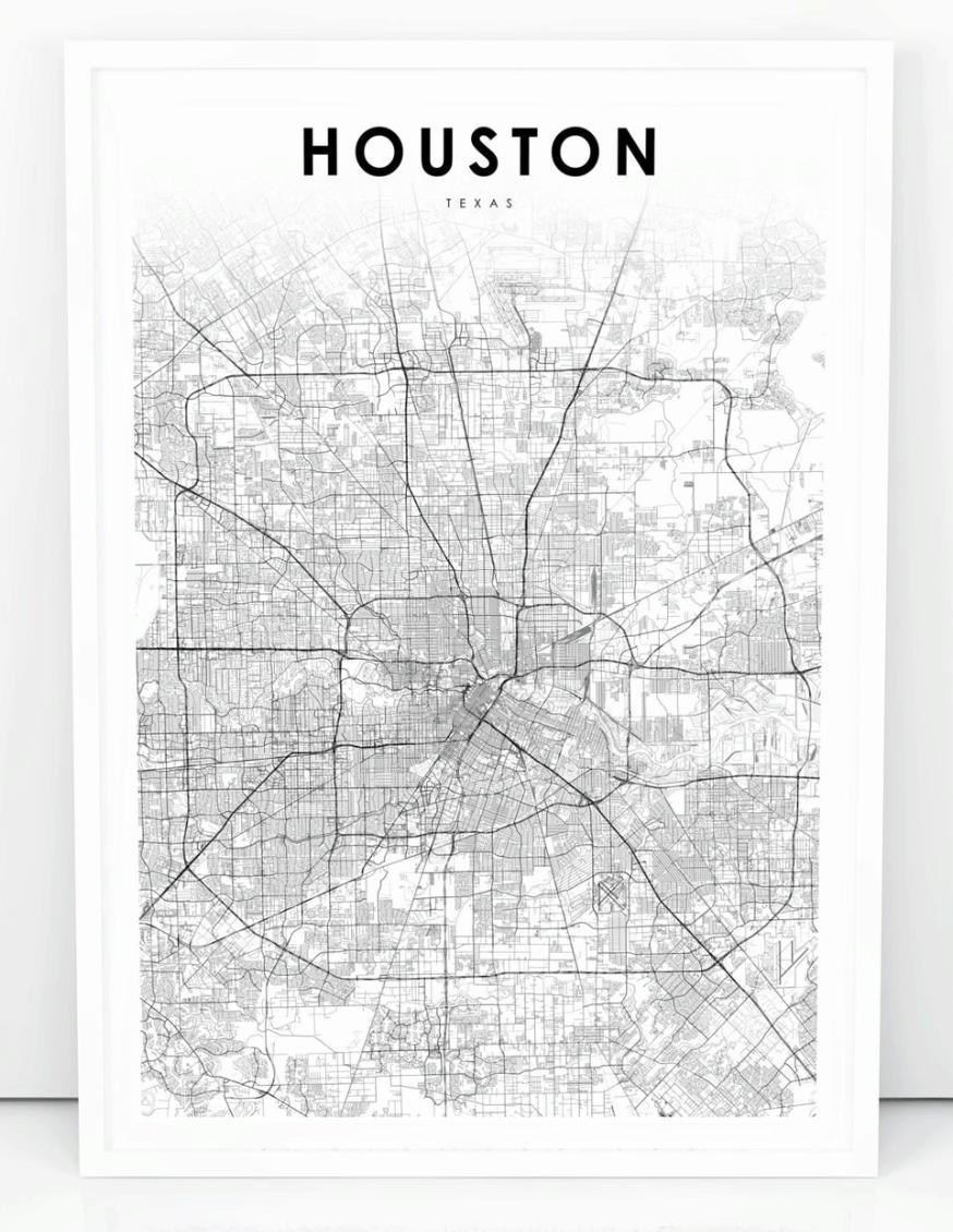 Houston Map Print