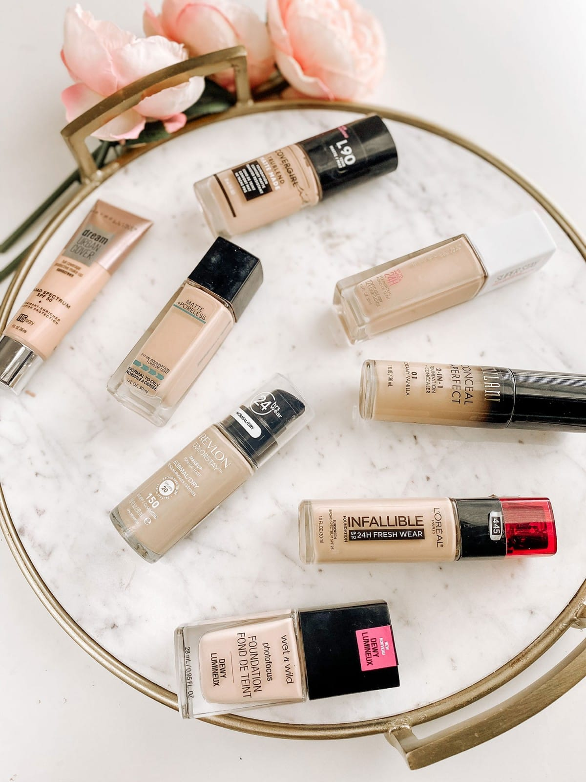 Looking for the best drugstore foundation? Houston beauty blogger Meg O. shares 8 full coverage drugstore foundation options.