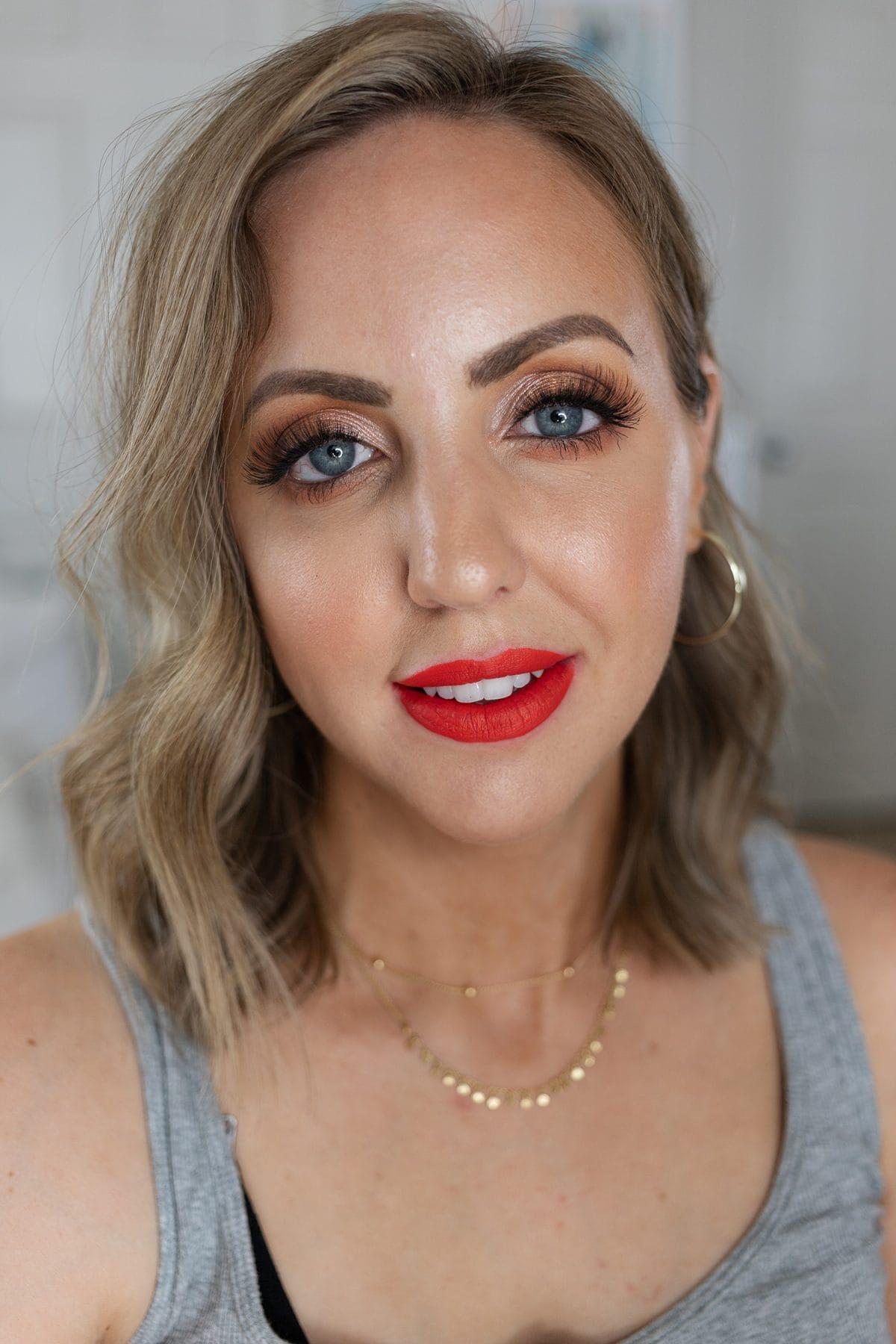 Houston beauty blogger Meg O. shares the best drugstore lip products for summer - Pixi MatteLast Liquid Lipstick in Orange Red