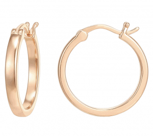 Rose Gold Dainty Hoop Earrings