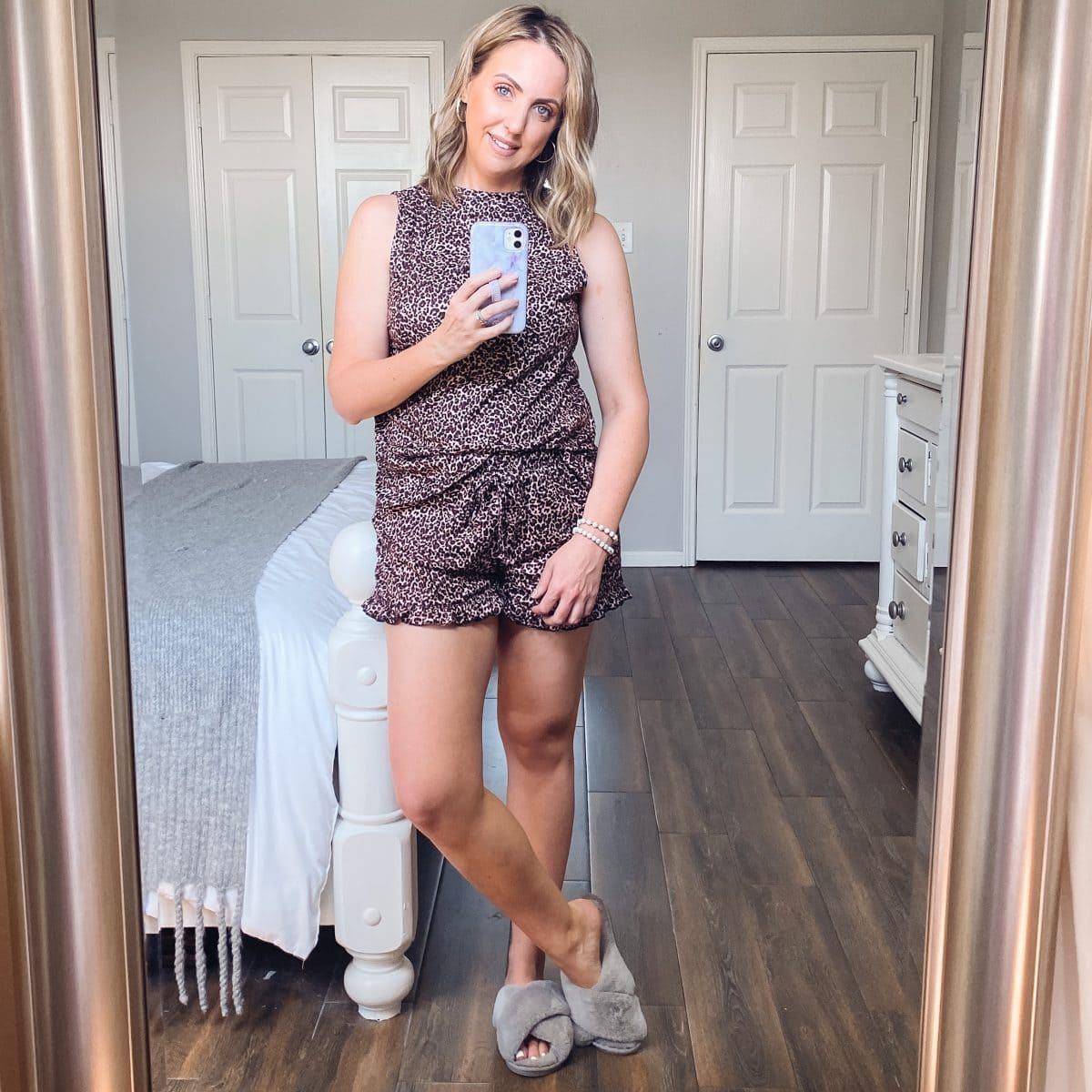 Amazon fashion - comfy cozy leopard print pajamas from Amazon