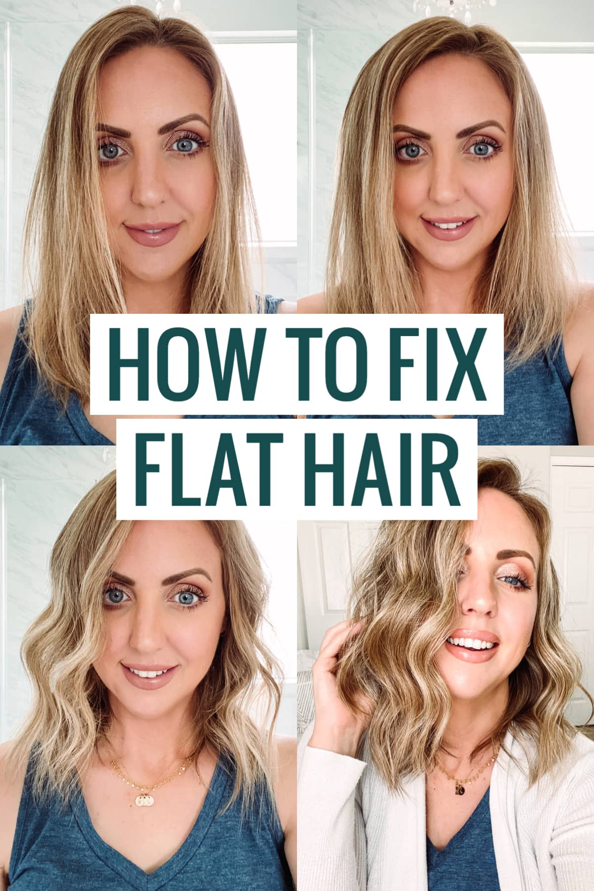 Houston beauty blogger Meg O. shares the best way to fix flat hair using the Bed Head Little Tease crimper