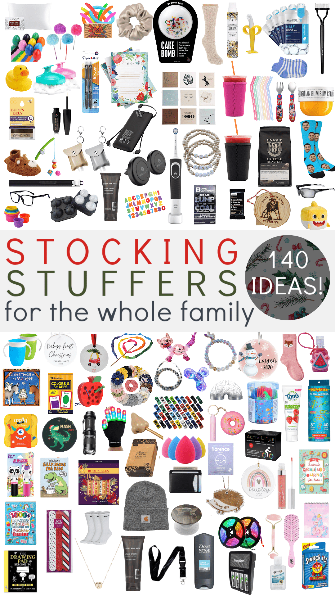 Houston lifestyle influencer Meg O shares stocking stuffer ideas for the whole family - 140 ideas! For her, for him, babies and toddlers, boys, girls, teen boys, and teen girls!