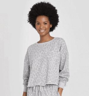 Target Colsie Cropped Leopard Sweatshirt