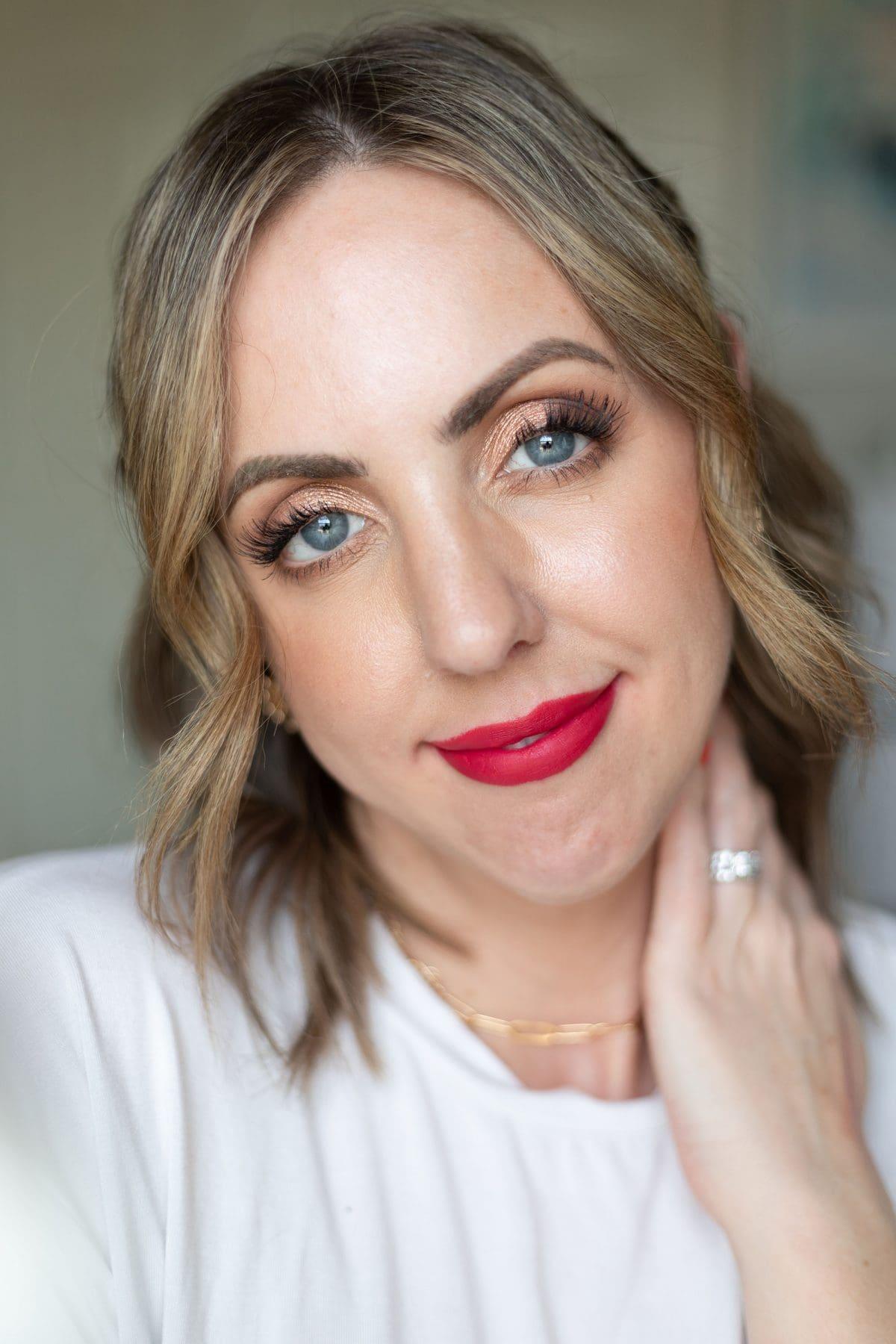 Maybelline Ultimatte Slim Lipstick in More Magenta lip swatch