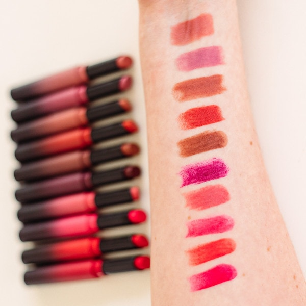 Maybelline Ultimatte Slim Lipstick Swatches