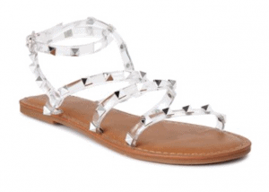 Time and Tru Clear Gladiator Sandals