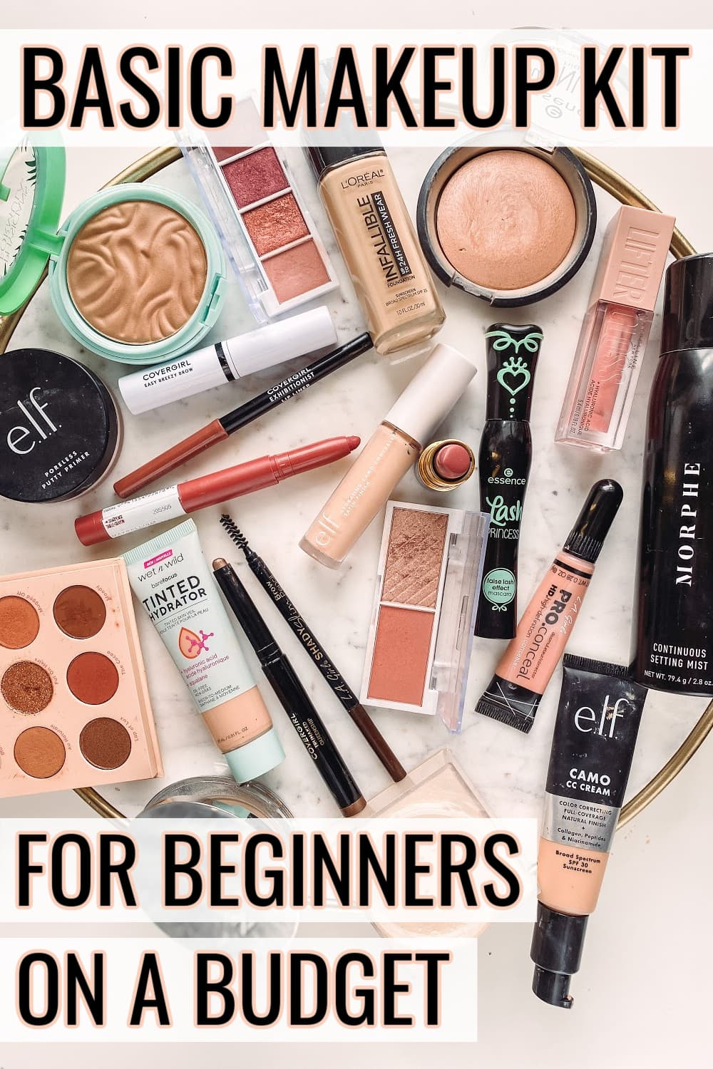 basic makeup kit for beginners on a budget 2021