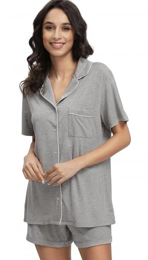 Button Down Short Pajamas