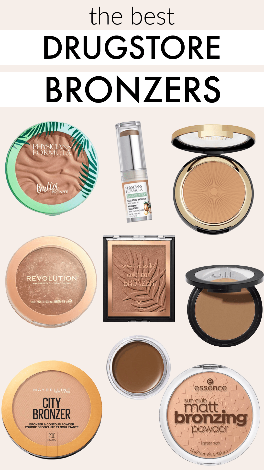 The best drugstore bronzers - cream, powder, shimmer, and matte for all skin tones and skin types