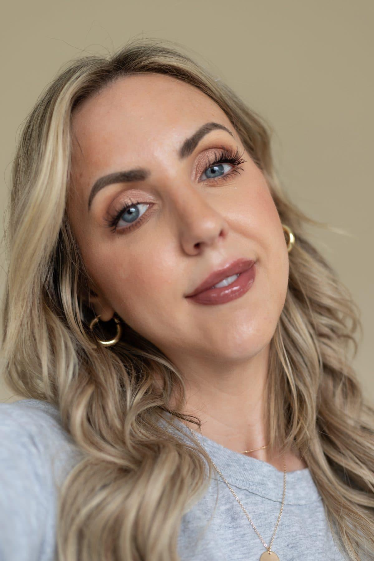 Houston beauty influencer Meg O. shares the best drugstore lipsticks for fall - NYX Butter Gloss in Ginger Snap