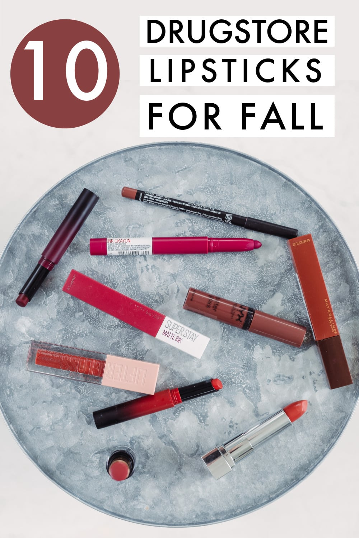 10 best drugstore lipsticks for fall